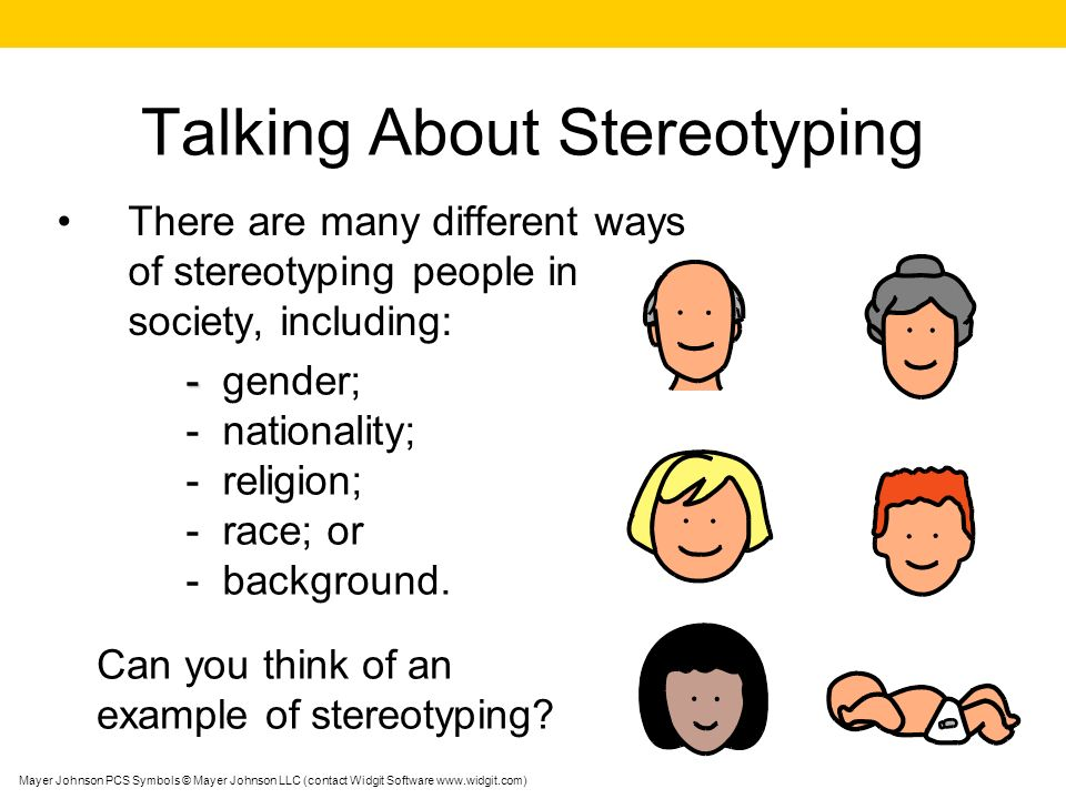 Talking About Stereotyping