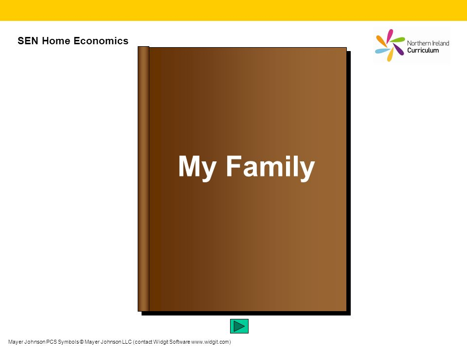 My Family SEN Home Economics