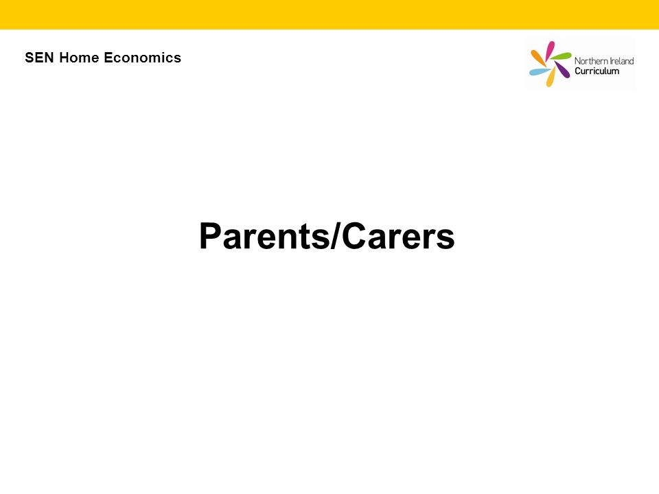 SEN Home Economics Parents/Carers