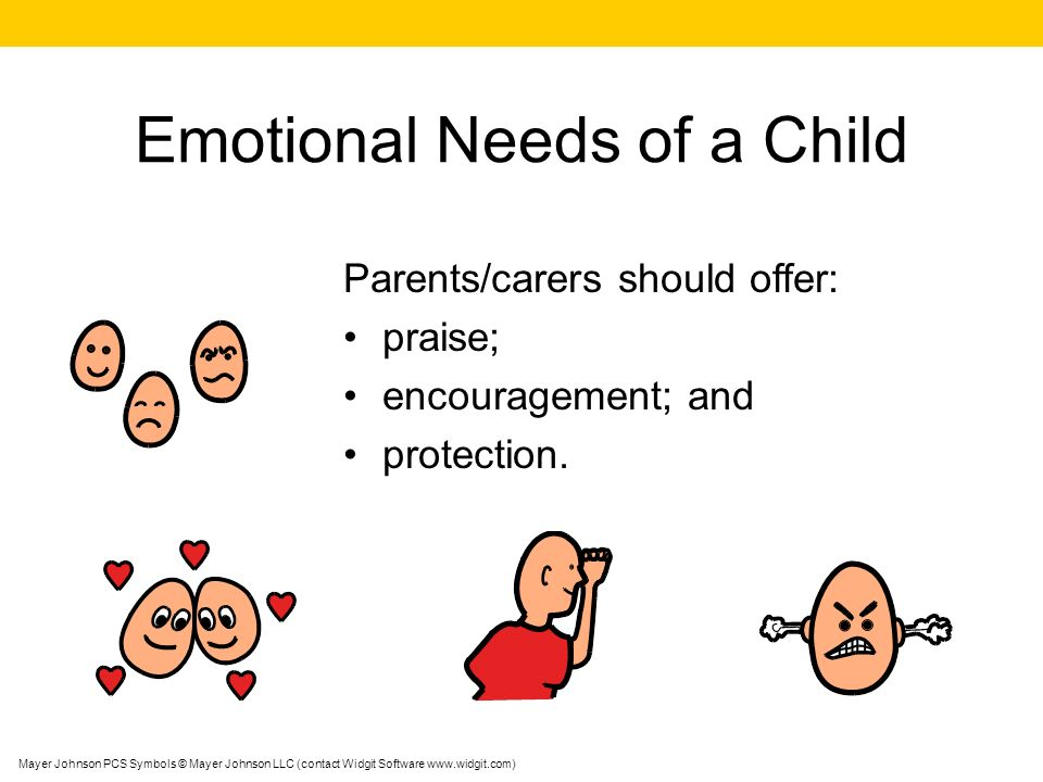 Emotional Needs of a Child