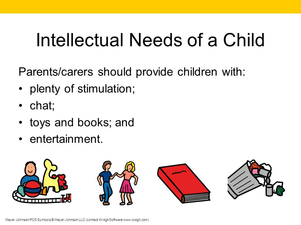 Intellectual Needs of a Child