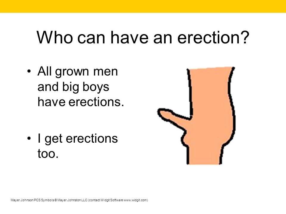 Who can have an erection