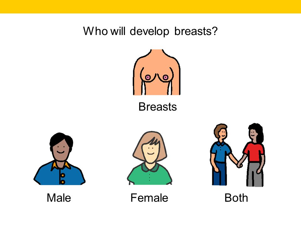 Who will develop breasts
