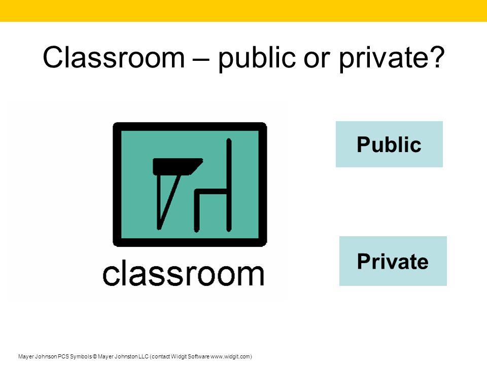 Classroom – public or private