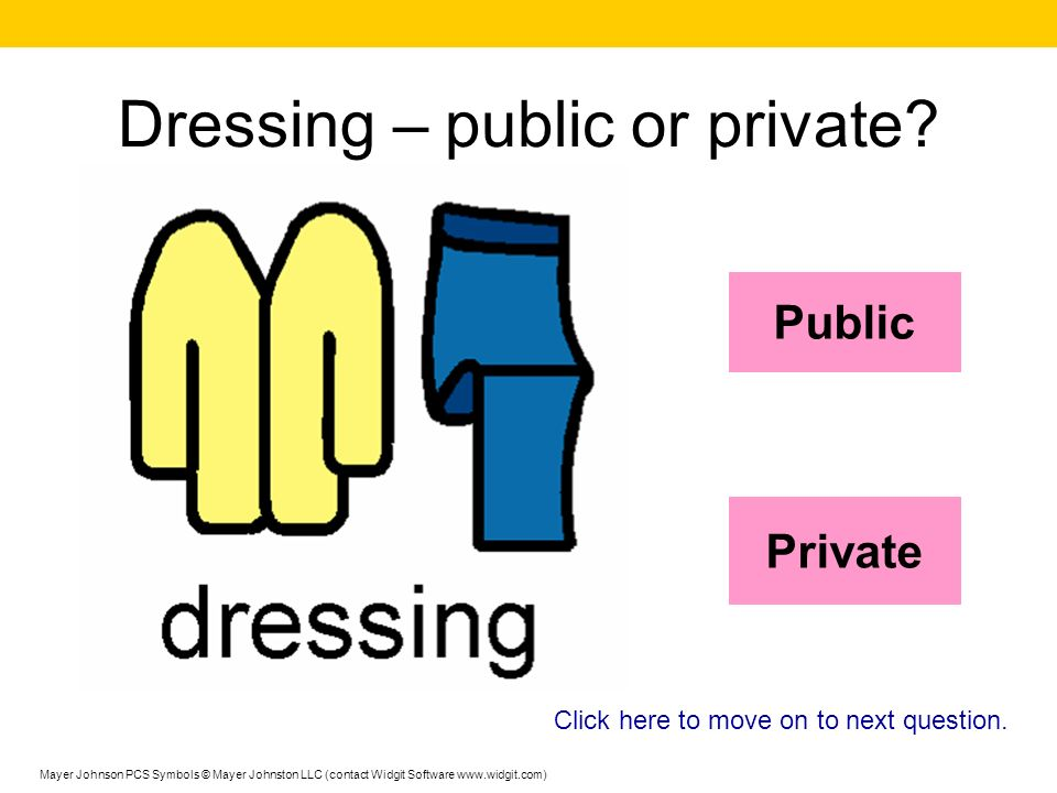 Dressing – public or private