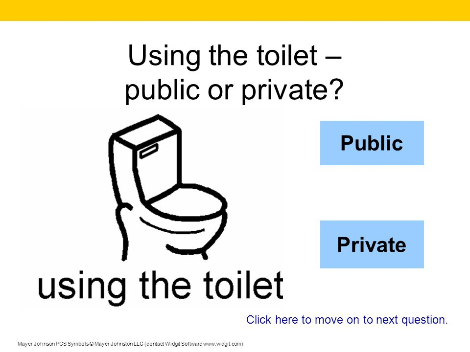 Using the toilet – public or private