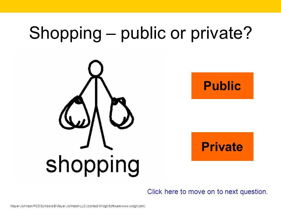 Shopping – public or private