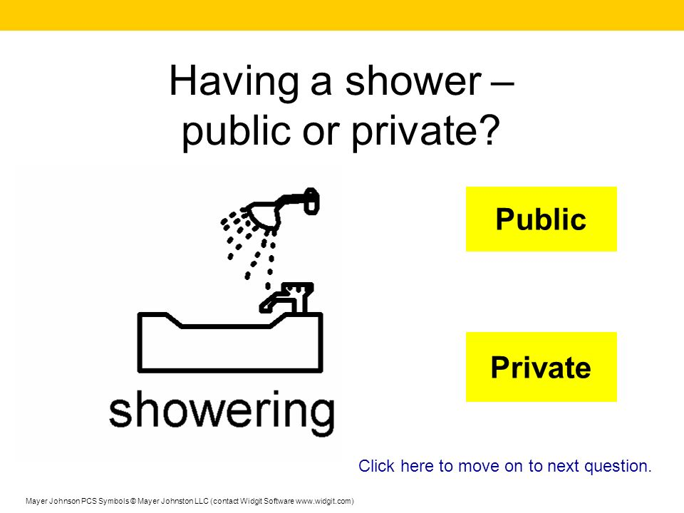 Having a shower – public or private
