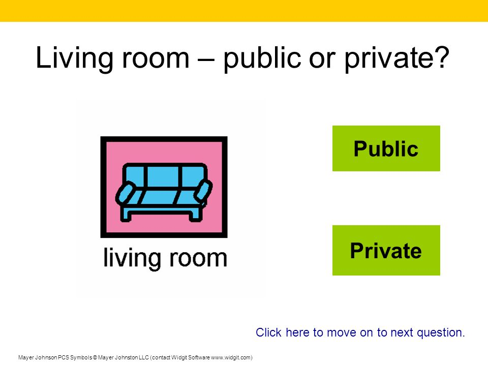 Living room – public or private