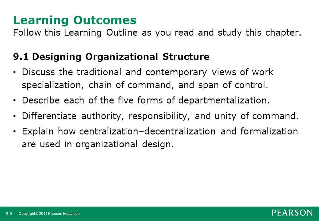 Learning Outcomes Follow this Learning Outline as you read and study this chapter.
