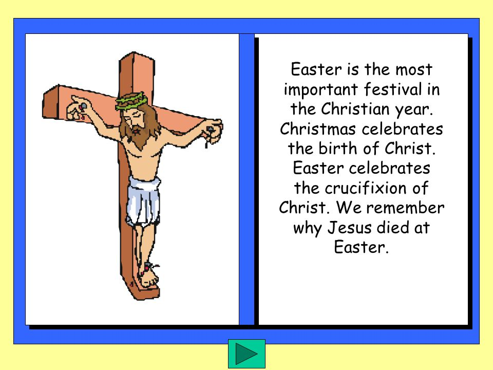 Easter is the most important festival in the Christian year
