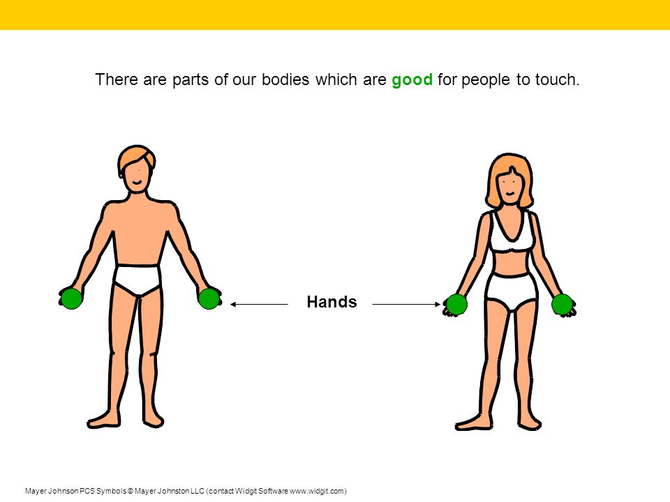 There are parts of our bodies which are good for people to touch.