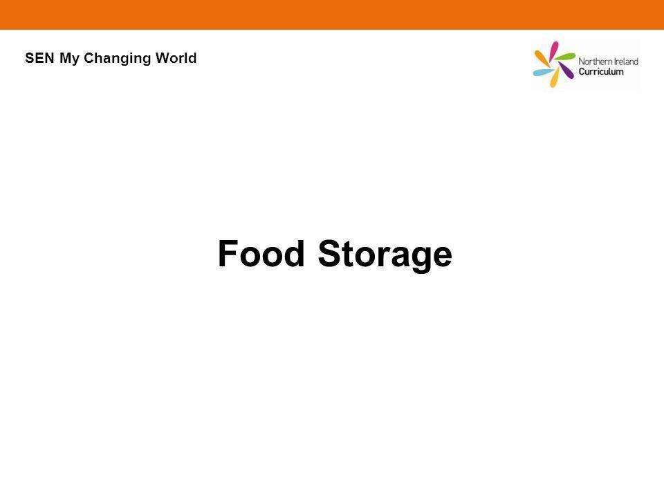 SEN My Changing World Food Storage