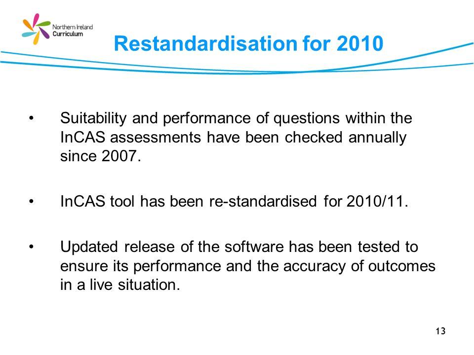 Restandardisation for 2010