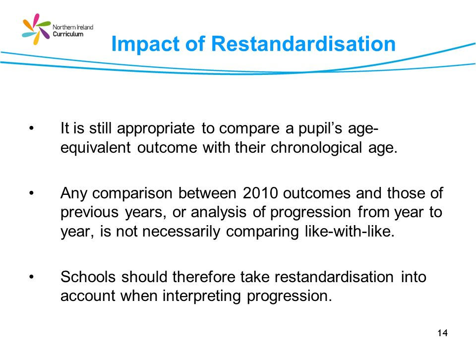 Impact of Restandardisation