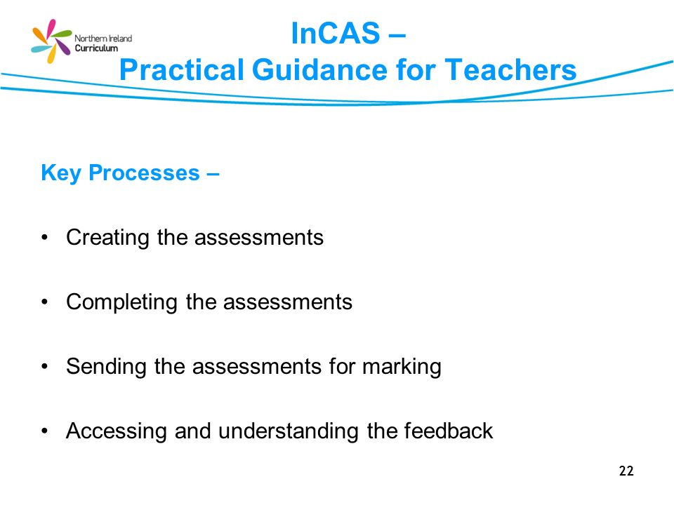 InCAS – Practical Guidance for Teachers