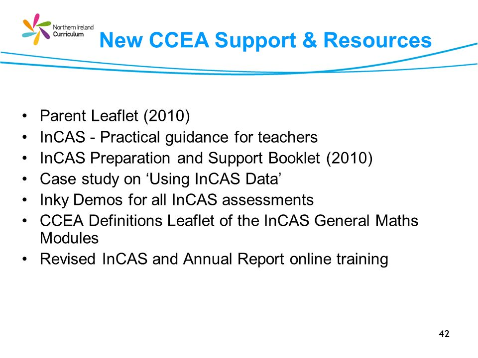 New CCEA Support & Resources