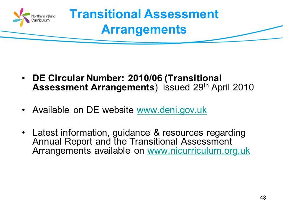 Transitional Assessment Arrangements