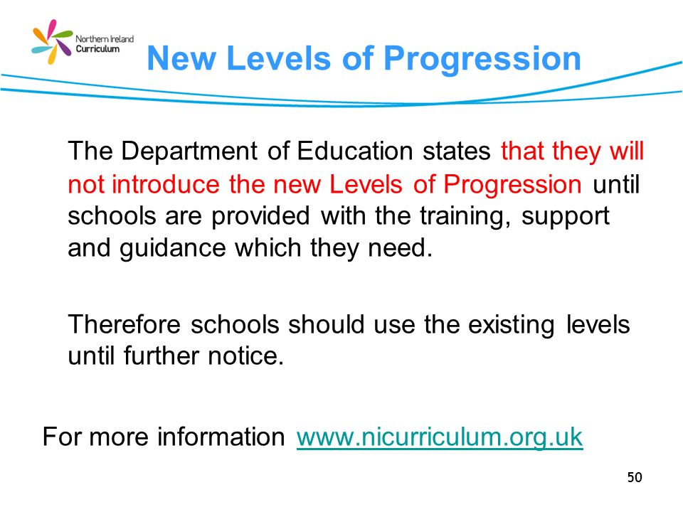 New Levels of Progression