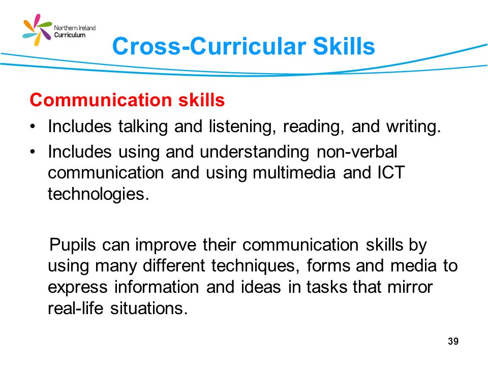 Cross-Curricular Skills