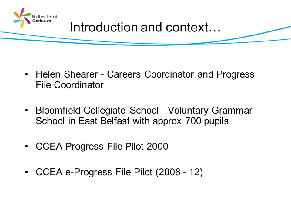 Introduction and context…