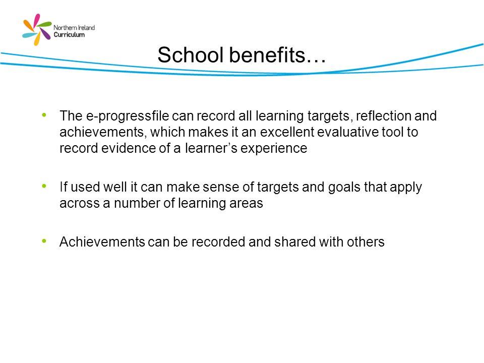 School benefits…