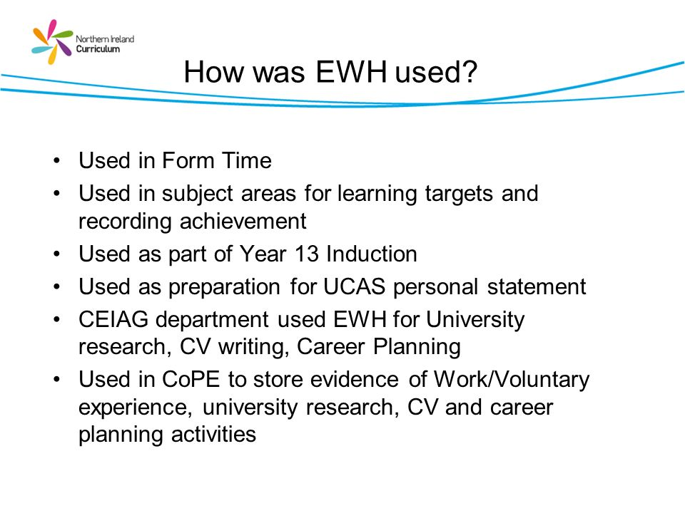 How was EWH used Used in Form Time