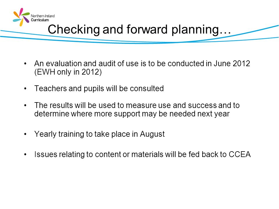 Checking and forward planning…
