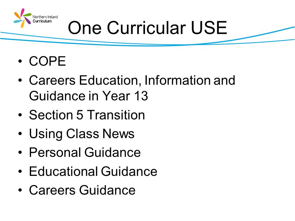 One Curricular USE COPE
