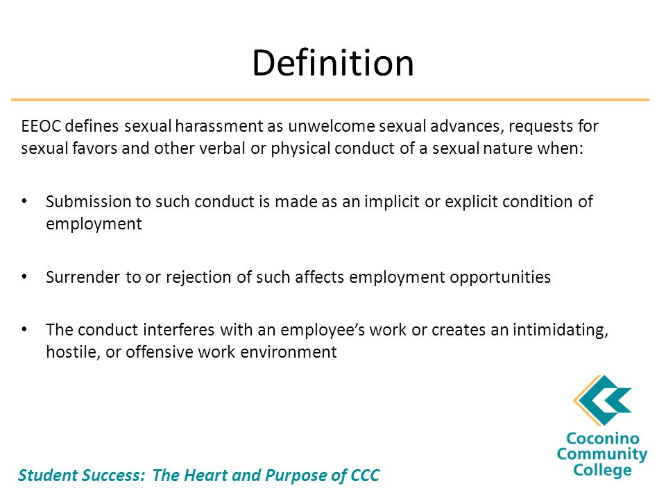 Eeoc definition of sexual harassment images 100