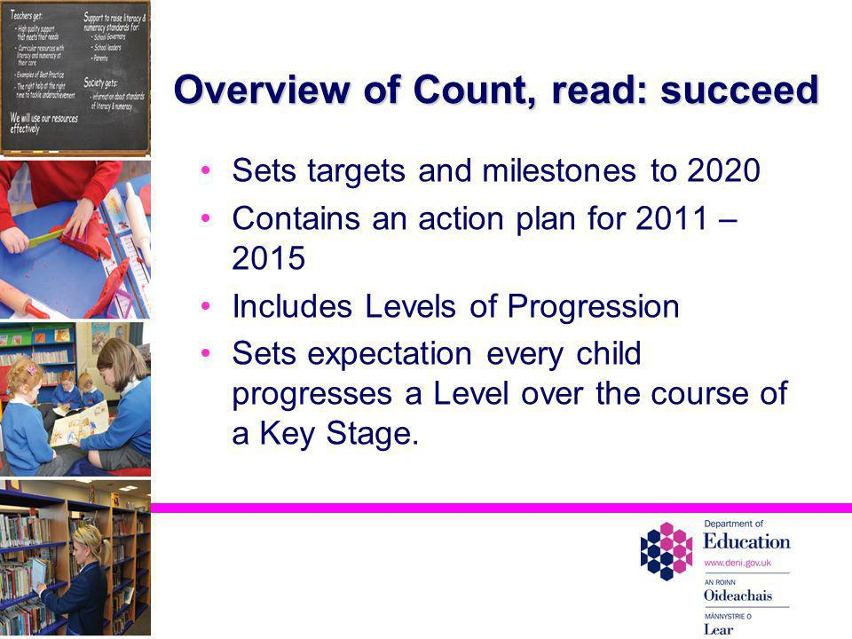 Overview of Count, read: succeed
