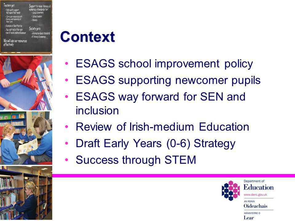 Context ESAGS school improvement policy