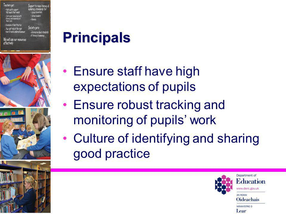 Principals Ensure staff have high expectations of pupils