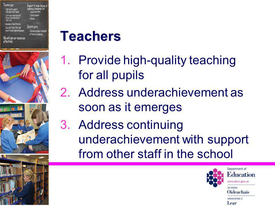 Teachers Provide high-quality teaching for all pupils