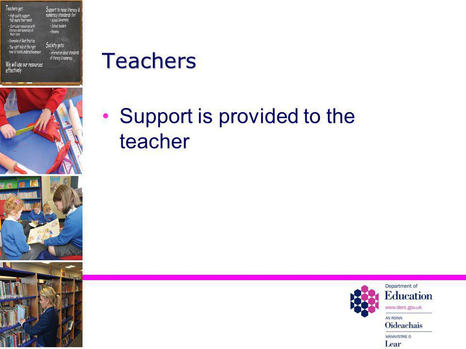 Support is provided to the teacher