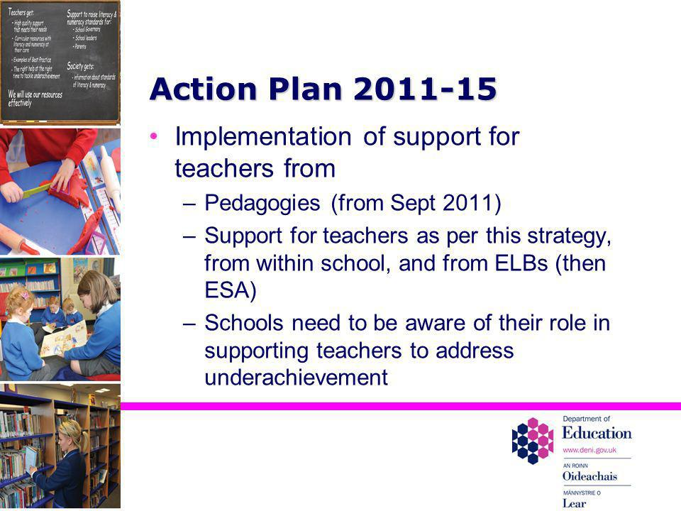 Action Plan 2011-15 Implementation of support for teachers from