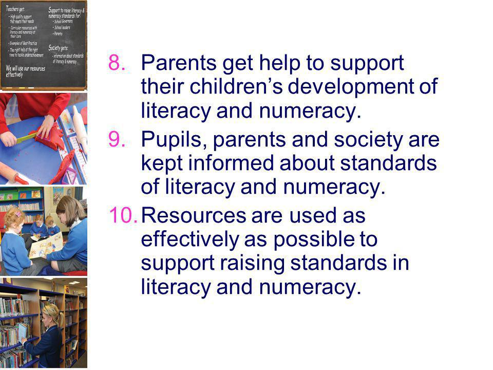 Parents get help to support their children's development of literacy and numeracy.