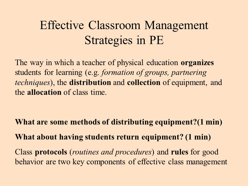 Classroom Pe Ideas ~ Organization management and safety in physical education