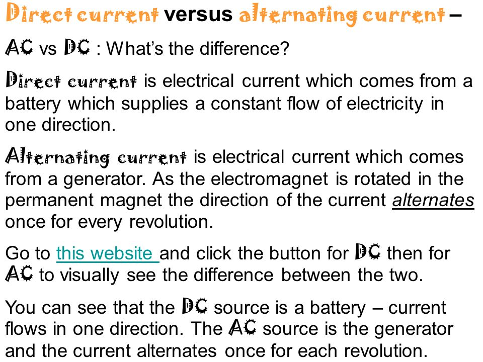 difference between ac dc current pdf