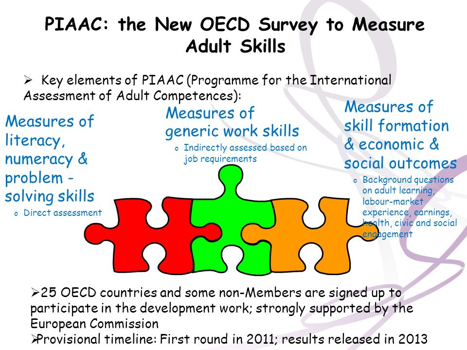 PIAAC: the New OECD Survey to Measure Adult Skills