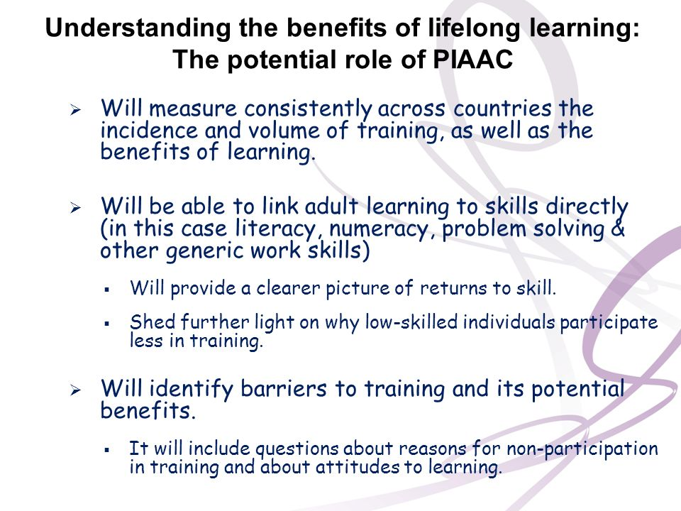 Understanding the benefits of lifelong learning: The potential role of PIAAC