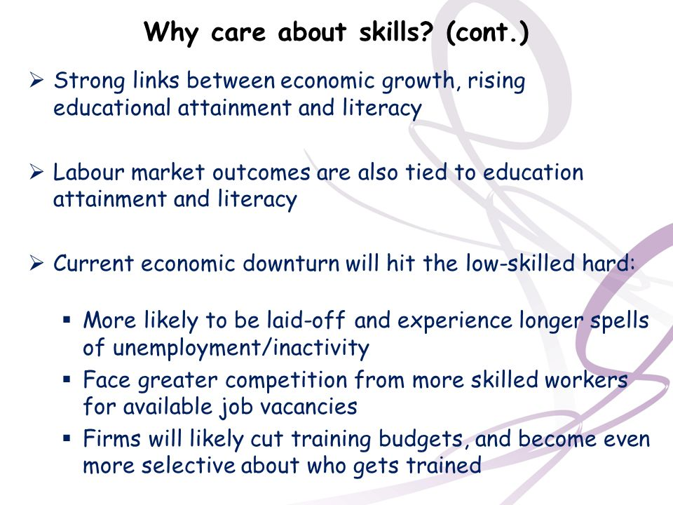 Why care about skills (cont.)