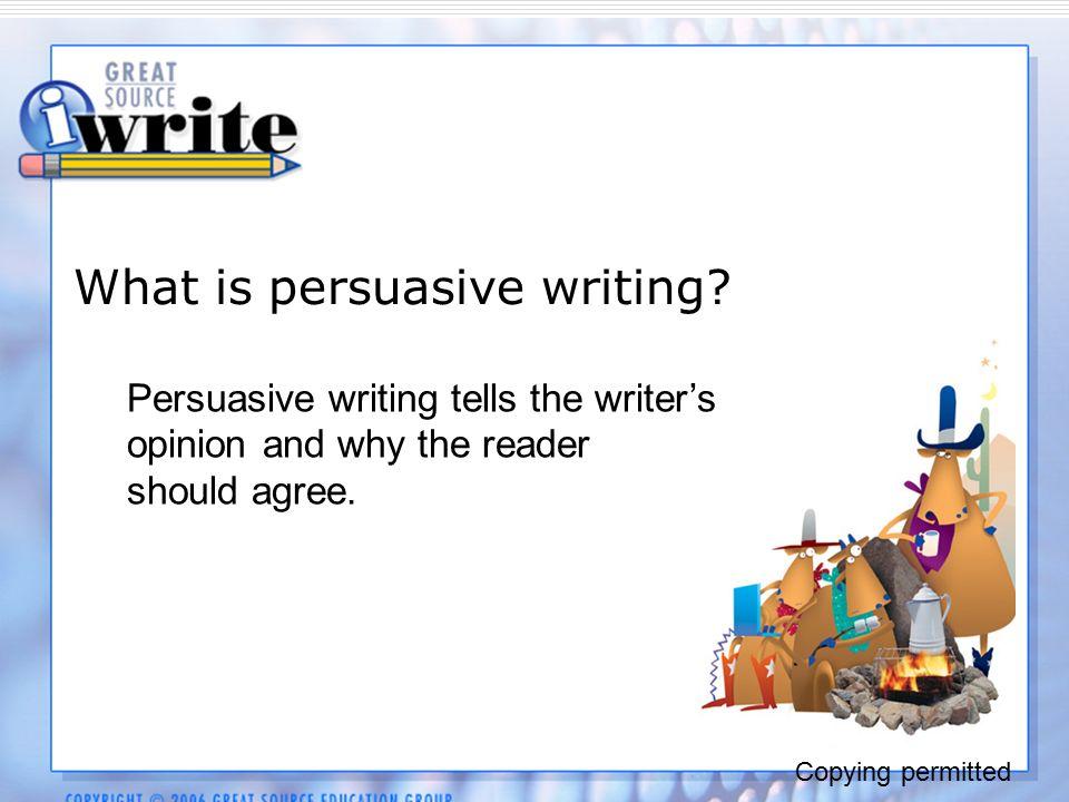 Persuasive essay online