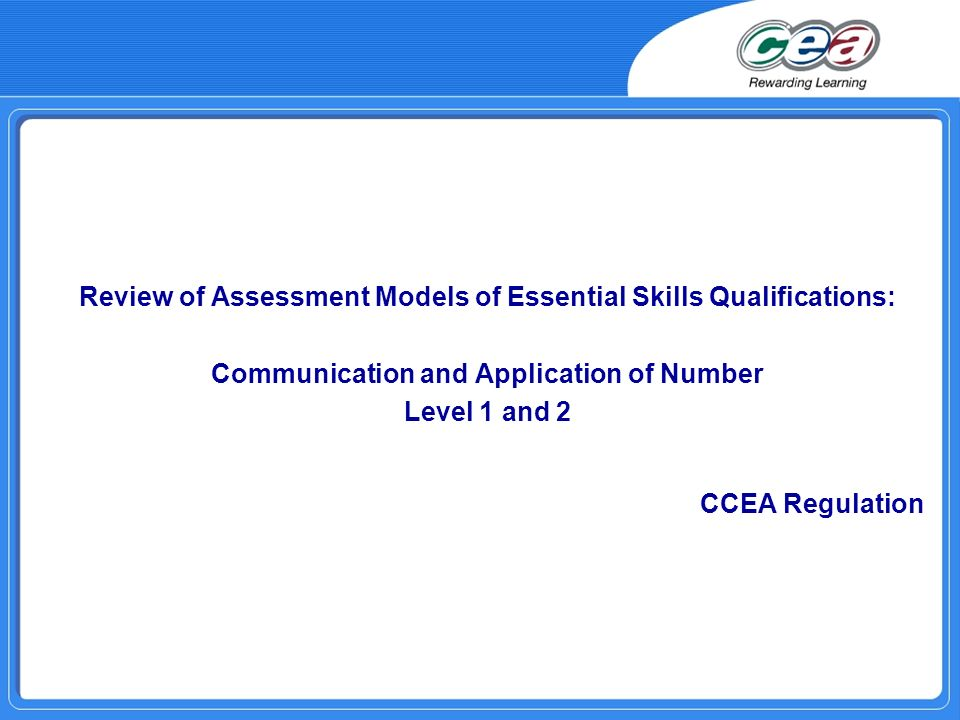 Review of Assessment Models of Essential Skills Qualifications: