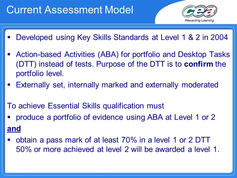 Current Assessment Model