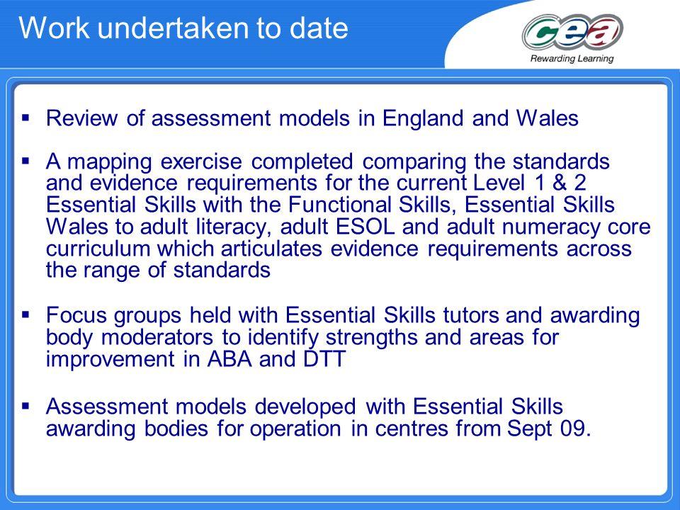 Work undertaken to date