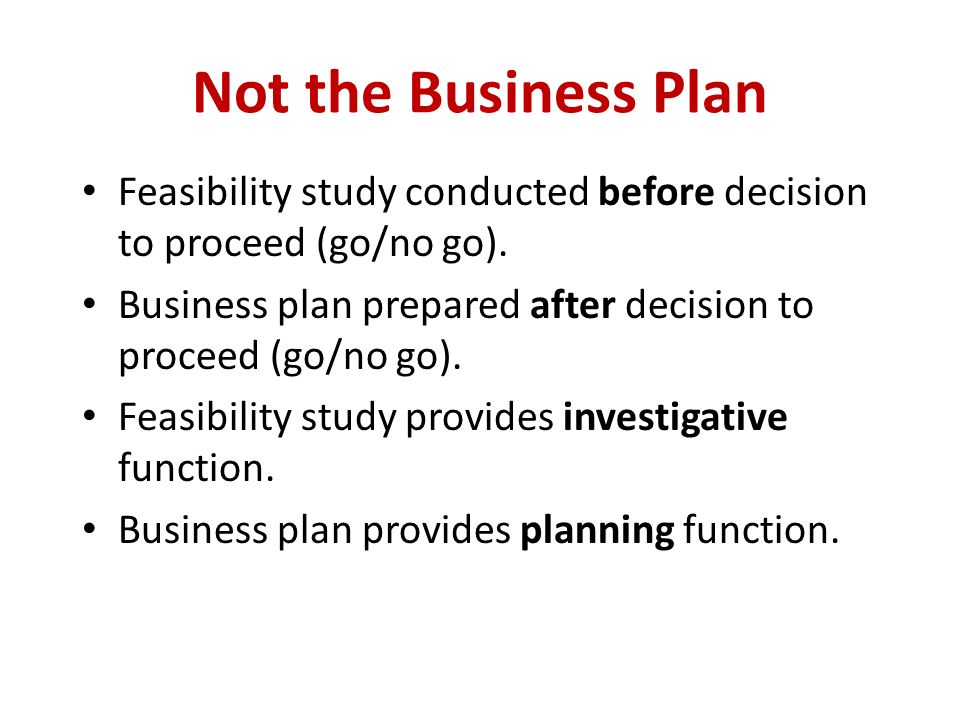 business plan feasibility study