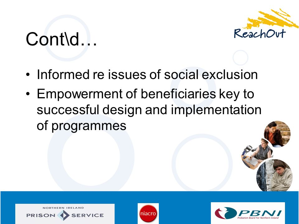 Cont\d… Informed re issues of social exclusion