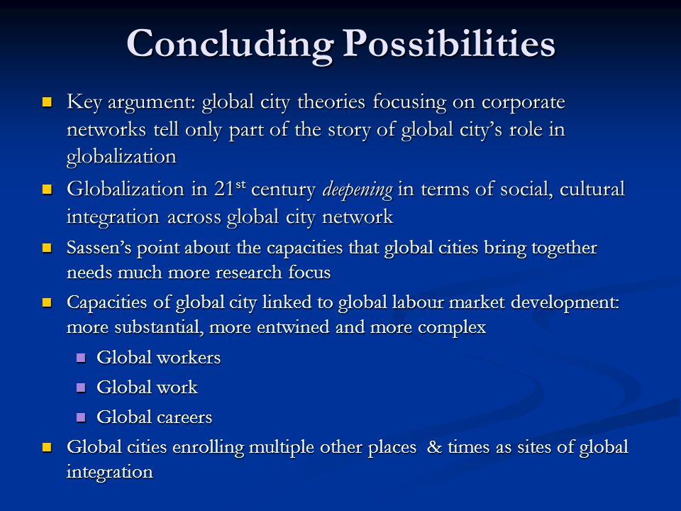 Concluding Possibilities