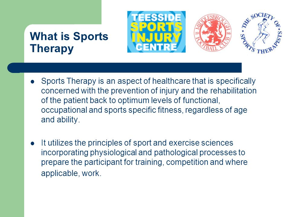 What is Sports Therapy